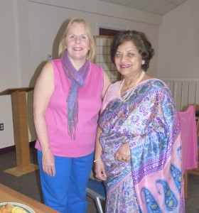 Ann Decker with Friends' President Janine Saldanha