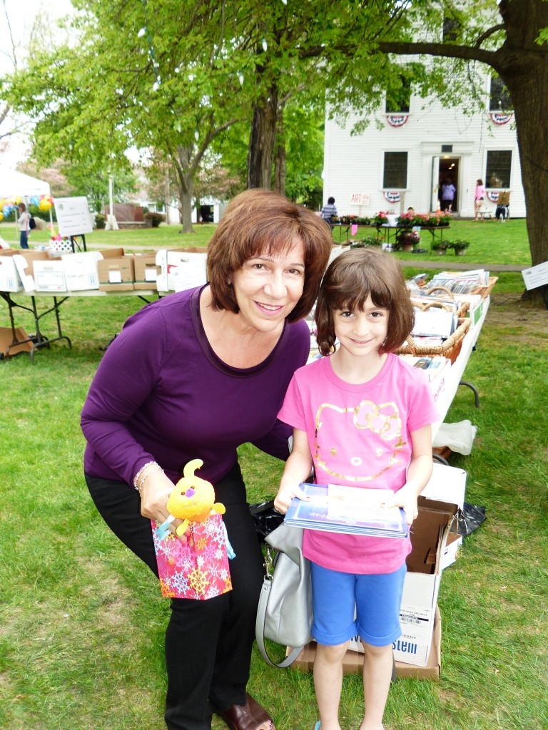 Lynnfield residents Delia Cassano and Granddaughter Gabriella attended the sale.  The sale attracted residents from many surrounding towns as well.
